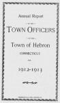 Hebron Town Report 1912-1913