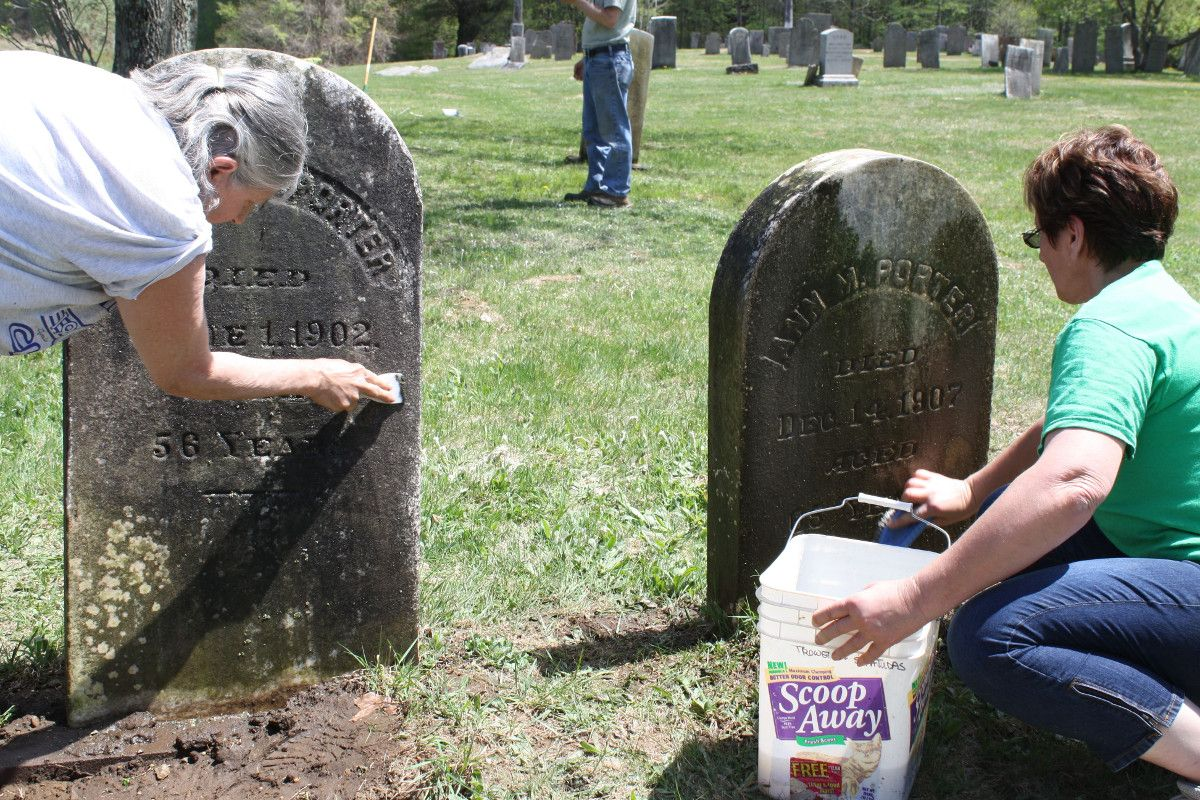 Cleaning Grave Stones